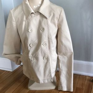 Gap camel chino double breasted jacket, sz 10